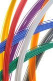 Pojęcie przekazu dane w sieć tv kablowej Obrazy Royalty Free