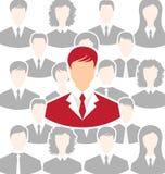 Pojęcie przywódctwo, społeczności ludzie biznesu Fotografia Stock
