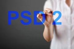 Pojęcie PSD2 - zapłata usługuje zarządzenie obrazy royalty free