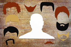 Pojęcie różna męska fryzura Obraz Royalty Free