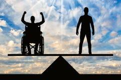 Pojęcie równi dobra niepełnosprawni w społeczeństwie Obrazy Stock