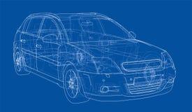 Pojęcie samochód wektor royalty ilustracja
