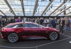 Pojęcie samochody wystawa i samochodu projekt - Paryż 2018 Fotografia Stock
