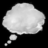 Pojęcie sen w pustej chmurze, robi od bawełnianej poduszki Zdjęcia Stock