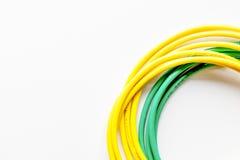 Pojęcie sieci interneta kabel na białego tła odgórnym widoku Fotografia Stock