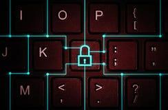 Pojęcie sieci ochrona, wirusowa ochrona, dane ochrona fotografia stock
