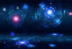 Pojęcie sieci technologii Biznesowy interfejs Obraz Royalty Free