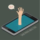Pojęcie smartphone nałóg ilustracji