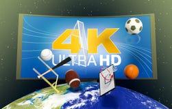 Pojęcie sport transmisi worldwide- elementy ten wizerunku futerko Zdjęcie Stock