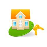 Pojęcie sprzedaż i czynsz dom na wsi Zdjęcia Stock