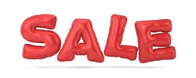 Pojęcie sprzedaż i rabat - Czerwoni sprzedaż balony odizolowywający na bielu Fotografia Royalty Free