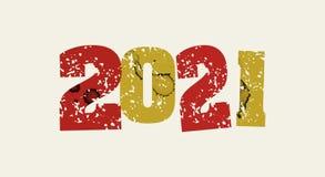 2021 pojęcie Stemplująca słowo sztuki ilustracja Zdjęcie Royalty Free