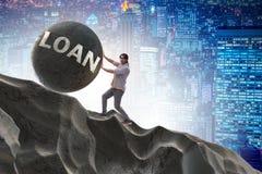 Pojęcie studencka pożyczka i droga edukacja royalty ilustracja