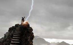 Pojęcie sukces i dokonywać twój cel Mieszani środki Mieszani środki Zdjęcie Stock