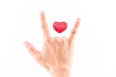 Pojęcie symbol miłość Fotografia Stock