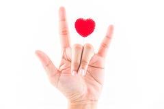 Pojęcie symbol miłość Obraz Royalty Free