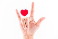 Pojęcie symbol miłość Fotografia Royalty Free