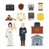 Pojęcie system sądowy Sprawiedliwość, równość, równowaga, problemy prawni ilustracji