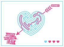 Pojęcie Szczęśliwy walentynka dnia powitanie lub Zdjęcia Stock