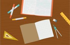 Pojęcie szkoły średniej szkoły wyższa i przedmiota edukaci rzeczy ilustracja wektor