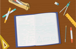 Pojęcie szkoły średniej szkoły wyższa i przedmiota edukaci rzeczy Obrazy Stock