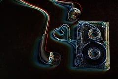 Pojęcie taśma dźwiękowa na błękitnej skale Obrazy Royalty Free