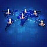 Pojęcie technologii komunikacyjnej abstrakta tło Fotografia Stock
