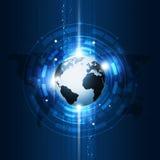 Pojęcie technologii komunikacyjnej Globalny tło Zdjęcie Royalty Free