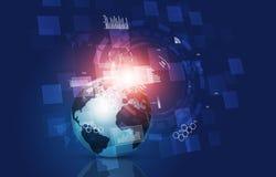 Pojęcie technologii komunikacyjnej interfejs Zdjęcia Royalty Free