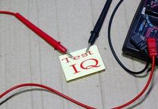 Pojęcie testra IQ tekst zdjęcie royalty free