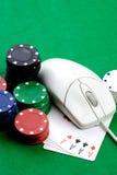 pojęcie uprawia hazard online obrazy stock