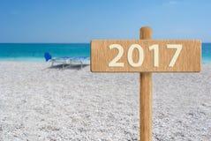 2017 pojęcie w pięknej plaży Obraz Royalty Free
