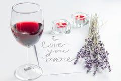 Pojęcie walentynki ` s dnia list miłosny na białym tle Zdjęcia Royalty Free