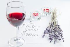 Pojęcie walentynki ` s dnia list miłosny na białym tle Obraz Royalty Free
