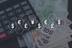 Pojęcie waluty obrazy royalty free