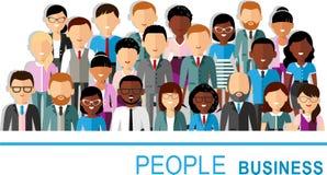 Pojęcie wektorowy amerykanin afrykańskiego pochodzenia, europejski biznesowy zaludnia Obrazy Stock