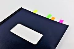 Pojęcie wizerunek ab książka z bookmark odbitkowa przestrzeń Obraz Stock