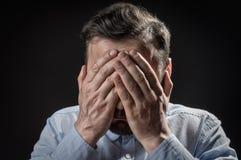 Pojęcie wstyd, strach lub niepowodzenie, zdjęcia stock