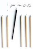 Pojęcie wyboru opcje z ołówkami na białego tła odgórnym widoku Zdjęcia Stock