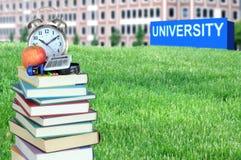 Pojęcie wykształcenie wyższe obraz royalty free
