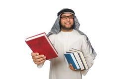 Pojęcie z arabskim mężczyzna odizolowywającym Zdjęcie Stock