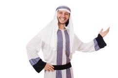 Pojęcie z arabskim mężczyzna odizolowywającym Zdjęcie Royalty Free