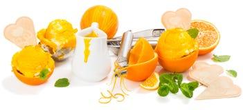 Pojęcie z pomarańczowym lody zdjęcia royalty free