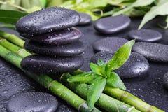 Pojęcie z zen bambusem i kamieniami obraz stock