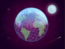 Pojęcie zanieczyszczenie planet rozporządzalni plastikowi naczynia również zwrócić corel ilustracji wektora ilustracja wektor