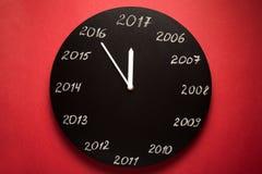 Pojęcie zegar w wigilię 2017 Fotografia Stock