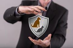 Pojęcie zwierzę domowe ochrona Fotografia Royalty Free