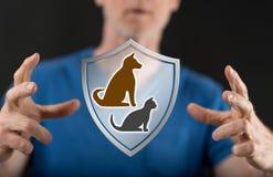 Pojęcie zwierzę domowe ochrona Fotografia Stock