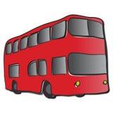 pojęcia autobusów decker kopii anglików London czerwonym transportu Obraz Stock