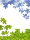 pojęcia charakteru puzzle 3 d Obraz Royalty Free